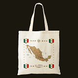 Mexico Map and Flags Bag