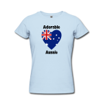 Australia Flag Heart Text Tshirt