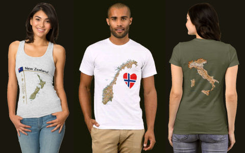 First three T-Shirt Styles and Designs
